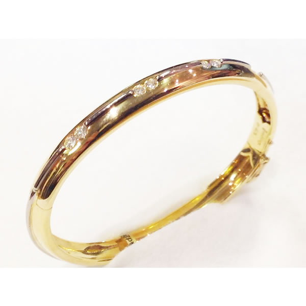 18ct Yellow Gold Diamond Bangle by Boodles