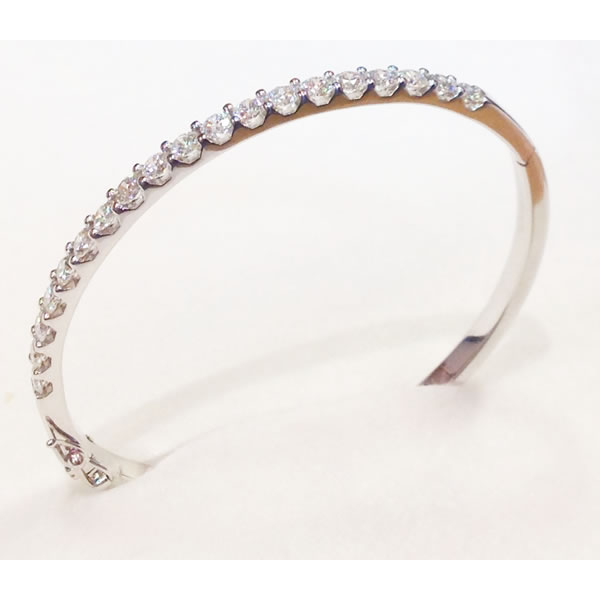 White Gold 3 Carat Diamond Cocktail Bangle