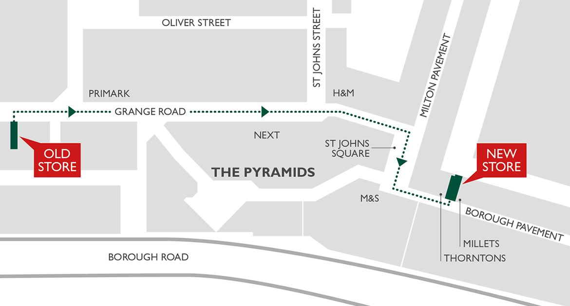 Birkenhead store moving location map