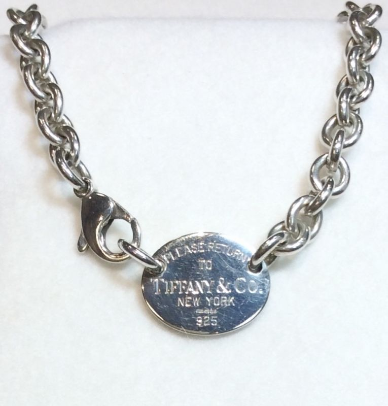 "172a6d89e Distinctive Tiffany and Co ""Return to Tiffany"" choker. Gross weight approx  55.6 grams. Sterling silver. New replacement value £460"