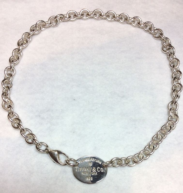 "7019f0061 Sterling silver ""Return to Tiffany chain. Gross weight approx 52.4 grams.  New replacement value £460"